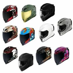 2021 Icon Airflite Full Face Dot Street Motorcycle Helmets - Pick Size And Graphic