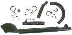 Complete Black-raw Exhaust System For 1937 1938 1939 1940 Harley Ul And Ulh