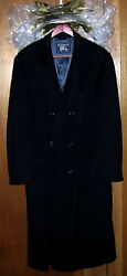 Burberrys Double Breasted Cashmere Overcoat Mens Size 50 Us Xxl Black