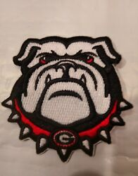 UGA University of Georgia Bulldogs Vintage Embroidered Iron On Patch 3quot; x 3quot;
