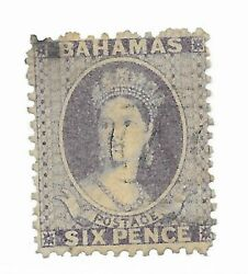 Bahamas 14c Stain - Used - Stamp Cat Value 90.00