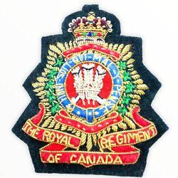 Canadian Forces Royal Regiment Of Canada Officers Bullion Wire Cap Badge