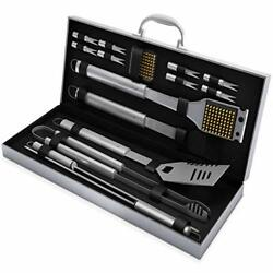 Bbq Grill Tools Set 16 Barbecue Accessories Stainless Steel Utensil Gift Quality