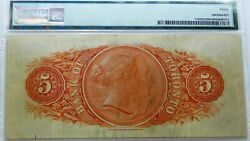 Bank Of Toronto 1929 5  Pmg 30 Very Fine ,large Chartered Canadian Banknote