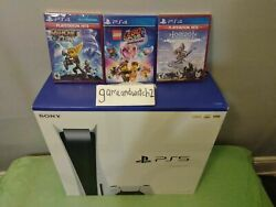 🔥🔥🔥 Sony Playstation 5 Console +3 Games - Fast Ship 🔥🔥🔥