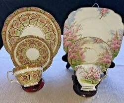 Reduced Royal Albert Court And Blossom Time Tea Cup/saucer/desert Plate W/gold Rim