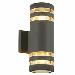 Modern Porch Wall Lamp Cylindrical Outdoor Wall Lamps Aluminum Upper And Lowe...