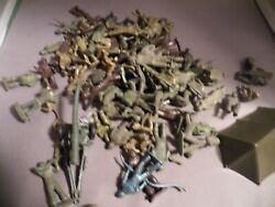 Marx Payton 45mm Army Lot 77 Figures 19 Different Cannon More