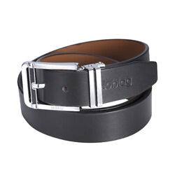 Noblag Luxury Men's Dress Belts Clamp Closure Buckle Leather Stainless Buckle