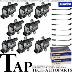 Acdelco Double Platinum Spark Plug + Engine Ignition Coil Wireset For Gmc Sierra