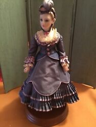 """Beverly Walters 12"""" Hand Molded Porcelain Fashion Lady Doll And Book One Of A Kind"""