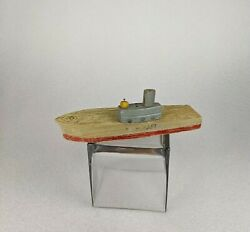 Vtg Keystone Wood Toy Boat Ship Aircraft Carrier Airplanes Submarine Primitive