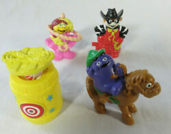 Vintage 1995 Mc Rodeo Mcdonalds Character Windup Set Foreign Toys Mip