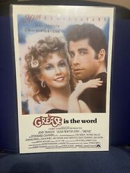 11x17 Grease Is The Word 20th Anniversary Laminated Movie Poster Travolta Newton