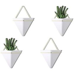 PUDDING CABIN 4 Set Small Wall Planters Hanging Vase Succulents Air Mini Faux