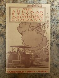 1919 Original Catalog The Aultman And Taylor Machinery Company Of Mansfield, Ohio
