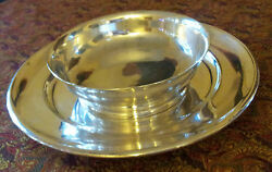 A Set Of Continental Silver Tray And German Silver Bowl About 57 Oz