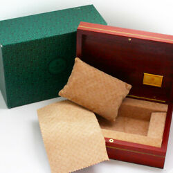 Rolex 69.00.09 Cheery Wood And Rare Fabric Watch Presentation Case And Outer Box