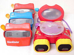 View-master 3d Vintage Retro Lot Of 5 Mixed View Master Toys Mattel Fisher Price