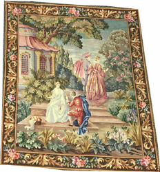 A Gorgeous Antique Wall Hanging Petitpoint Tapestry/hand Loom