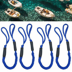 4 Pack Marine Bungee Dock Line Boat Mooring Rope Anchor Cord Stretch Blue Tos