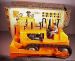 Vintage Marx Giant Bulldozer Toy Battery Operated In Original Box Dozer And Driver
