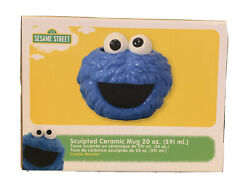 New Sesame Street Cookie Monster Sculpted 20oz Mug Or Soup Cup