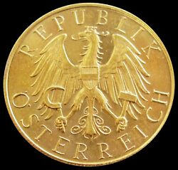 1926 Gold Austria 25 Schilling Imperial Eagle Coin Condition Mint State