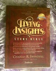 1996 Niv Living Insights Study Bible Forest Green Leather Charles Swindoll Notes