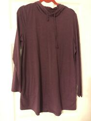 Duluth Trading Co size Large Hooded Top tunic $30.00
