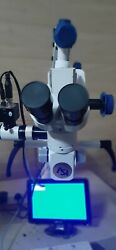 Portable Dental Surgery Microscope 5 Step With Motorized Focusing And Ccd Camera