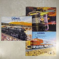 Lionel 1997 Heritage And Classic Trains Catalog Lot Of 3 Model Railroads Trains