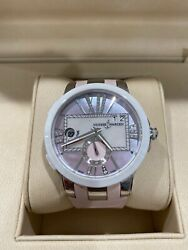 Ulysse Nardin Pink Mop Diamonds Stainless Steel Executive Dual Time Lady 40mm