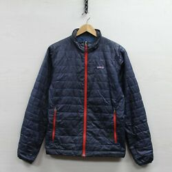 Nano Puff Insulated Puffer Jacket Size Small Blue Red Full Zip