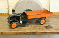 Vtg Antique Sonny Dump Truck Pressed Steel Toy 1920s 25 Dayton Keystone Tape