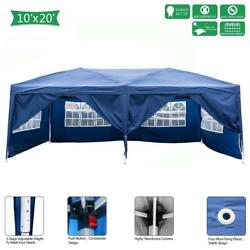 10and039x20and039 Ez Pop Up Gazebo Canopy Garden Party Tent Heavy Duty 6 Removeable Walls
