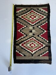 Old Early Navajo Rug 44.5andrdquox26andrdquoblanket Native American Colorful Textile Weaving