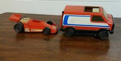 1970's Aj Foyt Tonka Van, And Race Car Made In The Usa