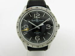 Bell And Ross Watch Vintage Br123-93 Gmt Mens Automatic-winding Back Skeleton Date
