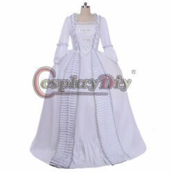 Marie Antoinette Ball Gown Dress 18th Century Ruffle Sack-back Rococo Gown Dress