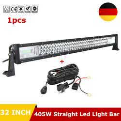 32inch 405w Led Light Bar 7d Driving Off-road Lamp Fit Jeep Truck 4x4wd Ute Wire