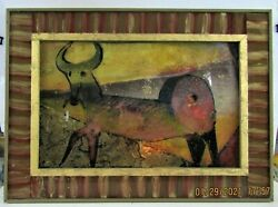 1-original Hinter Glassbehind Glass Oil Painting--by Karl May-framed By Artist