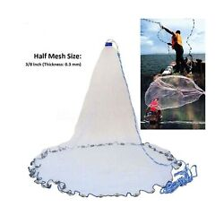 Yeahmart American Saltwater Fishing Cast Net For Bait Trap Fish 4ft/6ft/8ft R...