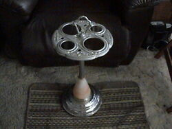 Antique Ash Tray Smoking Stand. Lighted Western Motif