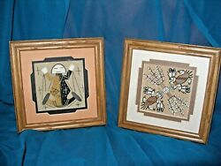 Vtg Navajo Sand Paintings By Lanette Price And Relinda Tom