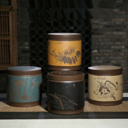 China Tea Caddy For Puand039er Tea Cake Chinese Real Yixing Zisha Tea Canister And Lid