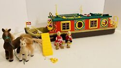 Calico Critters/sylvanians Canal Boat - Rare Vintage