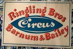 Authentic C.40s Ringling Bros And Barnum And Bailey Circus Poster Birds Eye Alt
