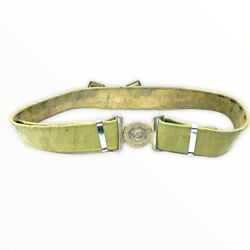 Ww2 Canadian P37 Web Belt Numbered With Royal Regiment Of Canada Buckle