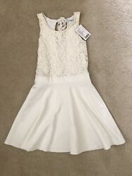 Nwt Kimchi Blue Urban Outfitters Dress Fit And Flair Skater Ivory Lace Size S